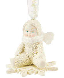 Department 56 Snowbabies Drifting On A Snowflake Collectible Ornament