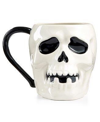 Martha Stewart Collection Skull Mug, Created for Macy's