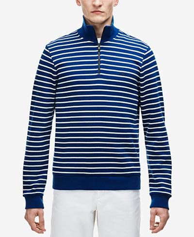 Lacoste Men's Interlock Stripe Cotton Sweater
