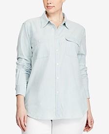 Plus Size Chambray Shirt