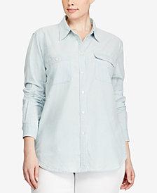 Lauren Ralph Lauren Plus Size Chambray Shirt