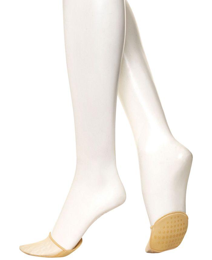 Hue - Women's Sheer Toe-Cover Liner Socks