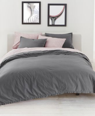 lacoste home relaxed u0026 washed castle rock light gray bedding collection