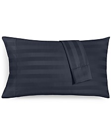 Charter Club Damask Stripe King Pillowcase Set, 550 Thread Count 100% Supima Cotton, Created for Macy's