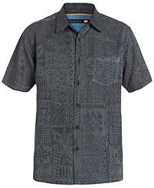 Quiksilver Waterman Men's Aganoa Bay Tropical-Print Short-Sleeve Shirt