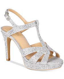 Thalia Sodi Verrda 2 Embellished Platform Dress Sandals, Created for Macy's