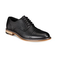 Deals on Bar III Mens Parker Leather Cap-Toe Brogues Created