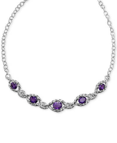 Amethyst Statement Necklace (7-3/8 ct. t.w.) in Sterling Silver