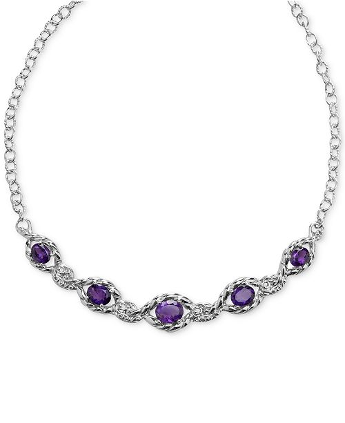 Carolyn Pollack Amethyst Statement Necklace (7-3/8 ct. t.w.) in Sterling Silver