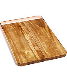 Martha Stewart Collection Copper-Handle Acacia Cutting Board, Created for Macy's
