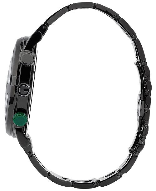 6afb785ccd6 ... Gucci Unisex G-Chrono Black Stainless Steel Bracelet Watch 44mm YA101331  ...