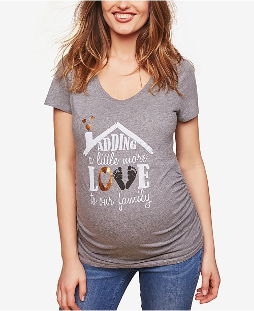 Motherhood Maternity Adding A Little More Love To Our Family™ Maternity Tee