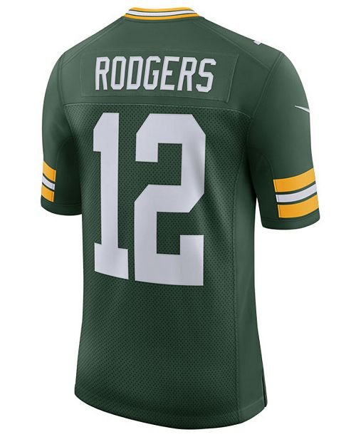 Nike Men's Aaron Rodgers Green Bay Packers Vapor Untouchable Limited Jersey