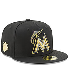 New Era Miami Marlins The League Metallic Patch 59FIFTY Fitted Cap