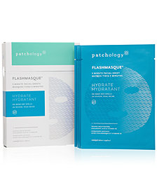 Patchology Hydrate FlashMasque 5-Minute Facial Sheet, 4-pack