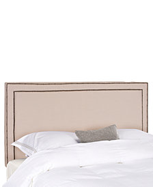 Corry Full Brass Nail Headboard, Quick Ship