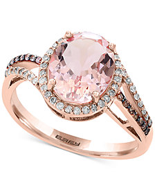 Final Call by EFFY® Morganite (2-1/2 ct. t.w.) & Diamond (1/4 ct. t.w.) Ring in 14k Rose Gold