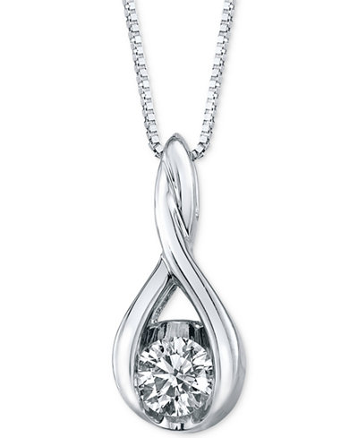 Sirena diamond twist pendant necklace in 14k gold or white gold 1 sirena diamond twist pendant necklace in 14k gold or white gold 15 ct aloadofball Choice Image