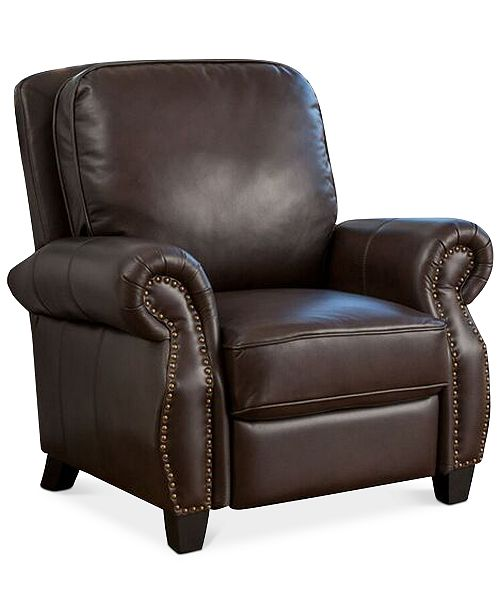 Noble House Norvil Faux Leather Recliner, Quick Ship