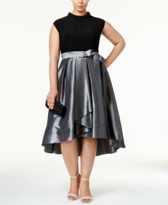 Fit and Flare Taffeta Dress