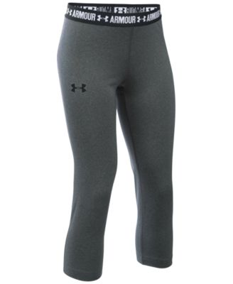 Image of Under Armour HeatGear® Armour Solid Capris, Big Girls (7-16)