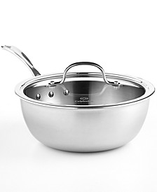 Tri-Ply Stainless Steel 3 Qt. Covered Chef's Pan