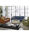 Myia Leather Sofa Collection, Only at Macy's