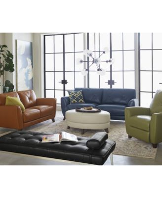 Myia Leather Sofa Collection, Created For Macyu0027s