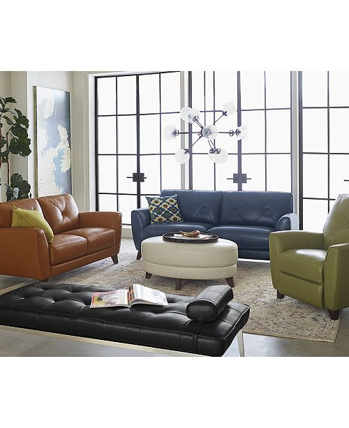 Fine Myia 82 Leather Sofa Created For Macys Onthecornerstone Fun Painted Chair Ideas Images Onthecornerstoneorg