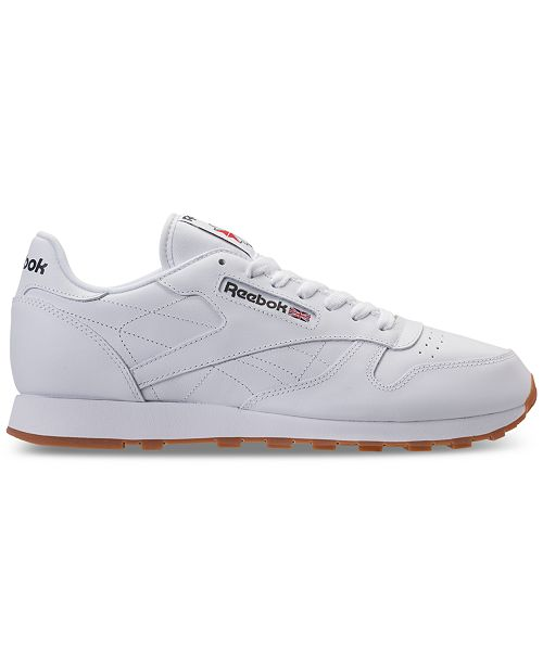 67ce1d3c876 Reebok Men s Classic Leather Casual Sneakers from Finish Line ...