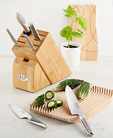 Global Stainless Steel Japanese Takashi 7-Pc. Cutlery Set