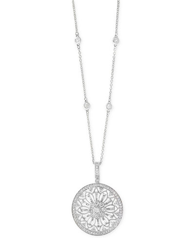 Effy diamond filigree pendant 18 necklace 1 ct tw in 14k effy diamond filigree pendant 18 aloadofball Choice Image