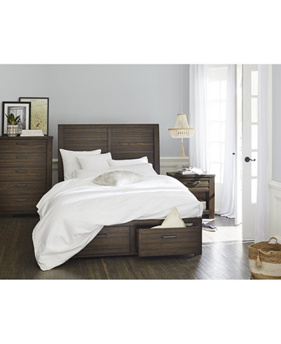 Emory Storage Platform Bedroom Furniture Collection, Created for ...