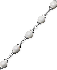 Pearl Bracelet, Sterling Silver Cultured Freshwater Pearl Toggle