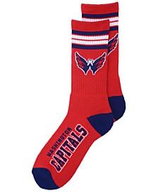 Washington Capitals 4 Stripe Deuce Crew Socks