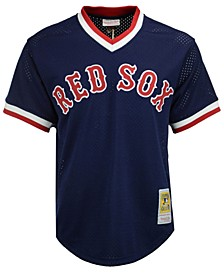 Men's Ted Williams Boston Red Sox Authentic Mesh Batting Practice V-Neck Jersey