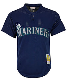 Mitchell & Ness Men's Ken Griffey Jr. Seattle Mariners Authentic Mesh Batting Practice V-Neck Jersey