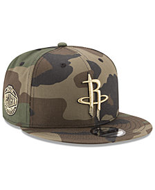 New Era Houston Rockets Metallic Woodland 9FIFTY Snapback Cap