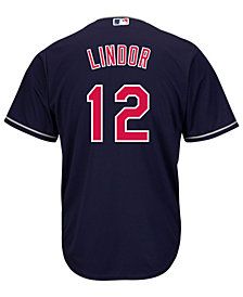 Majestic Men's Francisco Lindor Cleveland Indians Player Replica CB Jersey