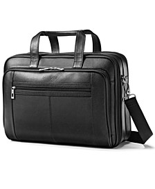 Leather Checkpoint Friendly Laptop Briefcase