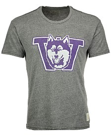 Retro Brand Men's Washington Huskies Tri-Blend Vault Logo T-Shirt