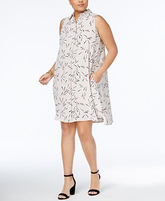 Anne Klein Plus Size Printed Shirtdress