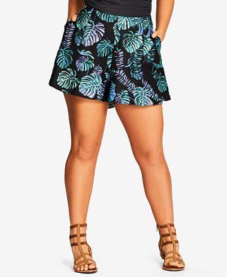 City Chic Trendy Plus Size Wide-Leg Shorts
