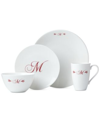 Lenox Merlot Script Monogram Dinnerware Collection