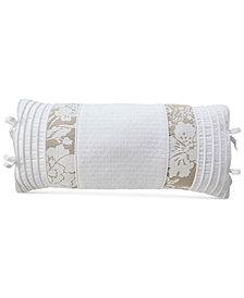 """CLOSEOUT! Croscill Nellie 22"""" x 11"""" Boudoir Decorative Pillow"""