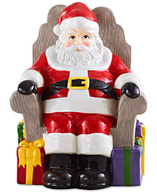 Martha Stewart Collection Santa Cookie Jar, Created for Macy's