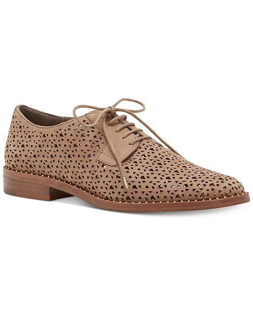 b4a18eb4a47 Vince Camuto Lesta Perforated Lace-Up Oxfords   Reviews - Flats ...