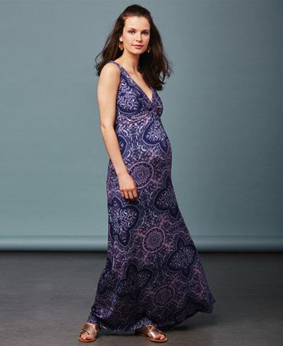 A Pea In The Pod Maternity Mosaic-Print Maxi Dress