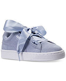 Puma Big Girls' Suede Heart Casual Sneakers from Finish Line