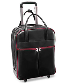 "McKlein Volo 15.6"" Wheeled Leather Carry-On"